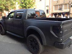 Brantley Gilbert's truck.  I'm gonna be honest... I'm not surprised it looks like this.  #BrantleyGilbert #matteford