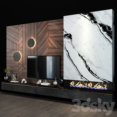 Living Room Decor Tv, Living Room Tv Unit Designs, Tv Decor, Living Room With Fireplace, Modern Tv Room, Modern Luxury Bathroom, Wall Panel Design, Tv Wall Design, Centro Tv