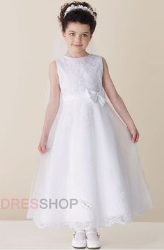 Scoop Sleeveless Empire Cute Flower Girl Dresses