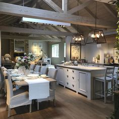 I want to move into this shop! is like a dolls house for adults! # hygge home decor Kitchen Interior, Kitchen Remodel, Kitchen Decor, Open Plan Kitchen Living Room, Barn Kitchen, House Design Kitchen, Home Kitchens, Farmhouse Kitchen Design, Kitchen Design