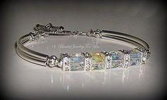Joyería de la boda para las novias: Pulseras de cristal, joyería de la dama de honor