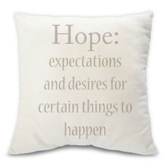 Hope decorative throw pillow  humanitarian.com  by BuyAPillow, $79.00