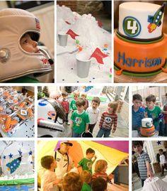 Fantastic NASA party. Look at kids' entertainment astronaut.