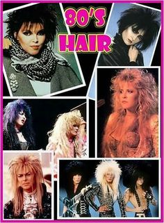 80's hair - was terrible and wonderful all at the same time!