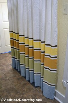 Painted Curtain Panels.....Yeah, I said PAINTED.