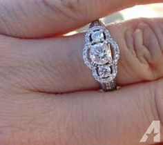 1ct G/Si1-SI2 Diamond Engagement Ring 14k WG - $900 (Racine)