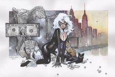 GRAIL: Black Cat by Olivier Coipel Comic Art