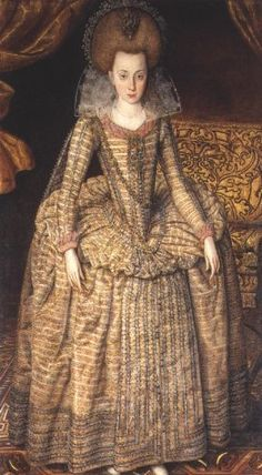 ca. 1610 Princess Elizabeth by Robert Peake (National Portrait Gallery - London UK)