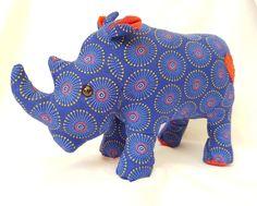 African rhino stuffed animal toy, rhino plush toy, african safari toy,  baby shower gift, kids birthday present, shweshwe soft toy, rhino African Rhino, African Elephant, African Animals, African Safari, Pet Toys, Kids Toys, Kids Birthday Presents, Giraffe Toy, African Children