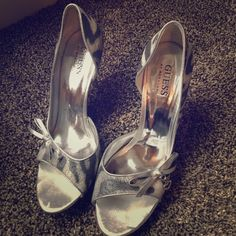 Guess silver animal print heels Guess silver animal print heels Guess by Marciano Shoes Heels