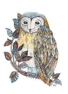 Nature Print Home Gift Idea Stylish Owl