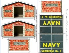 "Navy Warehouse Paper Model - by Papermau - Download Now!        I made this paper model of an old Navy Warehouse using photos of a real tin model. I want to thank Mr. Ed ""ICE"" Berg from Toy Connect website for the nice photos and for your great work to preserve the memory of vintage toys. In the end of this post, beyond the link to download this model you will also find the link to Toy Connect website."