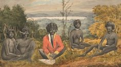 Cpt James Wallis. An Historical Account of the Colony of New South Wales. Newcastle region pictures. 1817-1818 era. Artist Joseph Lycett. NSW State Library