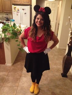 DIY Minnie Mouse Costume  sc 1 st  Pinterest & DIY Halloween Costume : DIY Mickey Mouse Costume DIY Halloween ...