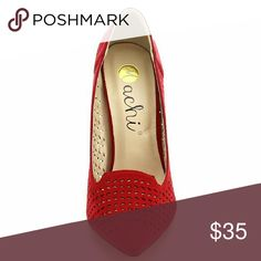 New in Box Heels for all occasions & every season Machi GIA2 Women's Pointy Toe Cut Out Slip On Stiletto Heel Party Dress Pumps Machi Shoes Heels