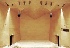 Auditorium. Kunsthuset Kabuso - Contemporary Museum. Øystese, Hordaland, 2006. Hille Strandskogen Arkitekter.