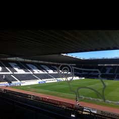 Pride Park football stadium Derby, team known as the Rams. March 2012