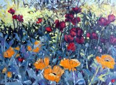 """Ivy Delon Fine Art-""""Poppies in the Shade"""" Available"""