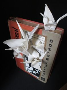 vintage altered book sculpture with Japanese by TimelessPages, $135.00