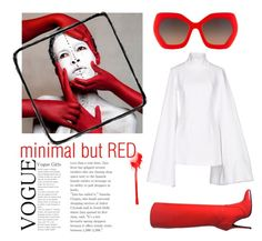 """""""but red"""" by valentina-mayday-celsi on Polyvore featuring moda, Giuseppe Zanotti, Jacquemus e Alice + Olivia"""