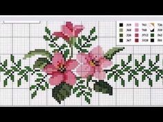 This Pin was discovered by Aur Cross Stitch Bookmarks, Cross Stitch Heart, Cross Stitch Borders, Cross Stitch Flowers, Cross Stitching, Cross Stitch Embroidery, Embroidery Patterns, Hand Embroidery, Flower Chart