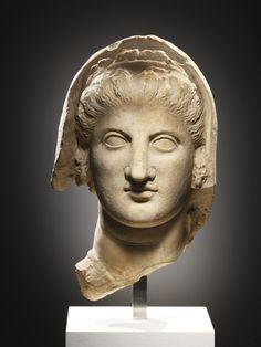 Greek (Cyprus), Hellenistic Portrait Head of a Woman 2nd cent. B.C.