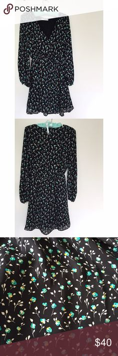 NWOT Mango Suit Mini Dress Beautiful floral pattern and super light material. V-neck. Lined except the arms. NEVER WORN! Mango Dresses Mini