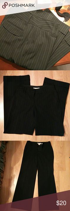 """Michael Kors Dress Slacks Black pinned stripes with cuffed hem. 32"""" inseam. Front and back pockets. Dual buttoned waistband. MICHAEL Michael Kors Pants Trousers"""