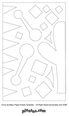 how to make papel picado free printable papel picado patterns kindergarten things pinterest. Black Bedroom Furniture Sets. Home Design Ideas
