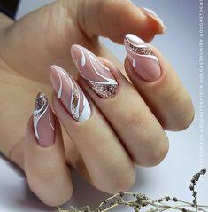 Girls Nail Designs, Manicure Nail Designs, Nail Art Designs Videos, Manicure E Pedicure, Cool Nail Designs, Nails Design, Chic Nails, Stylish Nails, Trendy Nails