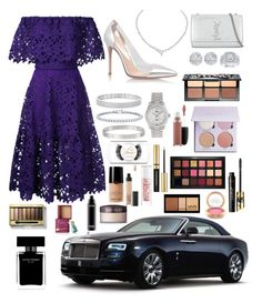 """Untitled #130"" by beauty3456queen ❤ liked on Polyvore featuring Bambah, Gianvito Rossi, Harry Winston, Yves Saint Laurent, Anne Sisteron, Auriya, Rolex, Allurez, Cartier and Sephora Collection"