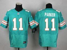 Men's Miami Dolphins #11 DeVante Parker Aqua Green Alternate 2015 NFL Nike Elite Jersey