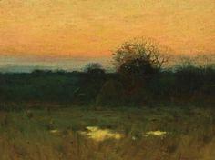 Charles Warren Eaton, American Impressionist, Twilight, 11 x 15 oil canvas on board