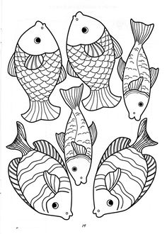 Clay Fish, Nautical Nursery Decor, Fish Patterns, Bible Crafts, Stencil Art, Pattern Drawing, Coloring Book Pages, Applique Quilts, Simple Art