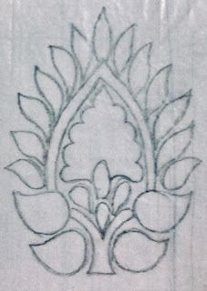 This is a back open blouse. The leaf pattern is done on one side of the blouse. The leaves are filled with threads and outlined with beads. Peacock Embroidery Designs, Hand Embroidery Design Patterns, Hand Embroidery Videos, Embroidery Motifs, Wreath Drawing, Sewing Art, Hand Designs, Bead Art, Quilting Designs