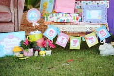 ALICE in Wonderland -  BANNER Party Printables - Mad Hatter - Girls Woman, Birthday, Shower, Wedding, Bridal tea or party - Krown Kreations on Etsy, $3.99