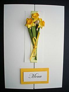 www.beadazzledesigns.co.uk  Daffodil Wedding menu