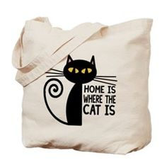Home Is Where The Cat Is. Tote Bag > Home Is Where The Cat Is > All You Need Is Cat