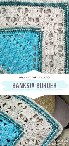 Crochet Square Blanket, Crochet Baby Blanket Free Pattern, Crochet Edging Patterns, Crochet Edgings, Crochet Quilt, Crochet Borders, Crochet Stitches, Crochet Blankets, Baby Blankets