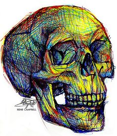 Skull Sketch by ~nauvasca