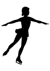 ice skater silhouette - Google Search