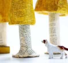 Paper Mache Fairy Toadstool by grrl+dog Paper Clay, Paper Art, Mushroom Crafts, Dog Hotel, Paper Mache Crafts, Animal Magic, Arts And Crafts, Diy Crafts, Crafty Kids