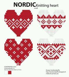 Knitting Charts Heart Cross Stitch 20 New Ideas Hama Beads Design, Hama Beads Patterns, Beading Patterns, Knitting Charts, Knitting Stitches, Knitting Patterns, Free Knitting, Crochet Patterns, Cross Stitching