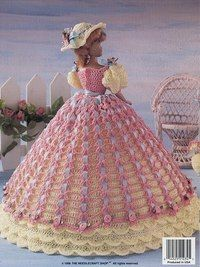 Nadine of Albany, Ladies of Fashion crochet patterns fit Barbie fashion dolls Crochet Elephant Pattern, Crochet Doll Pattern, Crochet Patterns, Crochet Doll Dress, Crochet Barbie Clothes, Crochet Hats, Barbie Gowns, Barbie Dress, Circle Quilts