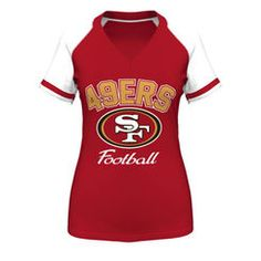 San Francisco 49ers Majestic Women's Plus Size Go For Two IV V-Neck T-Shirt – Scarlet