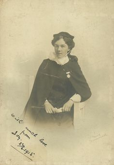 Nurse Joy,Bournemouth 1915 | She appears to be wearing the medal of the Princess Christian Hospital Weymouth