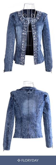 Sewing projects clothes women jackets Ideas for 2019 Artisanats Denim, Denim And Lace, Coats For Women, Jackets For Women, Clothes For Women, Denim Fashion, Fashion Outfits, Womens Fashion, Fashion Trends