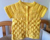 Newborn Baby Yellow Vest, size: 0-9 months, Usa Seller