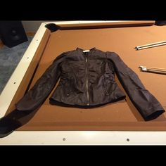"""Body Central Brown """"leather"""" type jacket sz: M Brown """"Leather"""" type jacket by Body Central   /   Juniors size: Medium Body Central Jackets & Coats"""