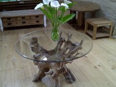 Reclaimed Teak Root Dining Table 1.2m - Same as the Saturday kitchen Table on BBC show with Jamie Martin